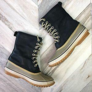 Sorel Waterproof Boots Slimpack 1964 Navy Blue 7